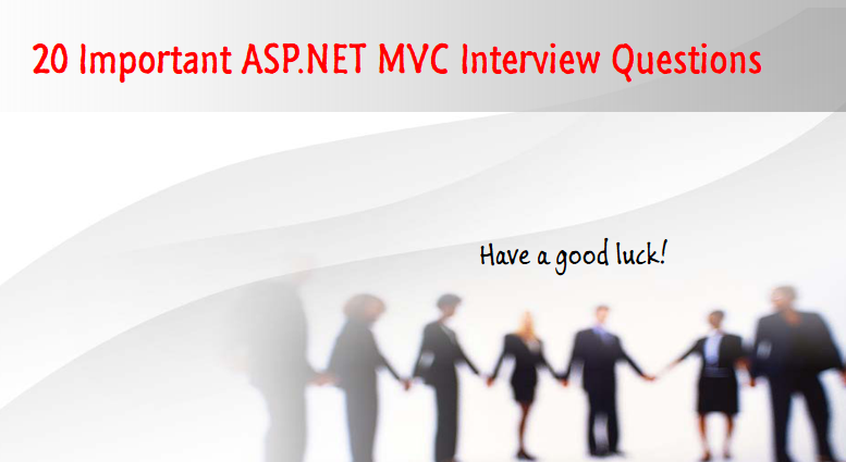 ASP.NET MVC interview question