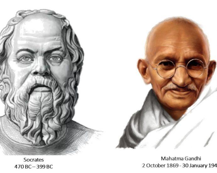 socrates and mahstama gandhi ji